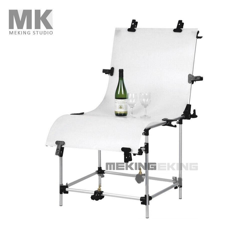 Estudio Photo mesa con Plexi 60 * 130 cm , fondo de iluminación de aluminio disp