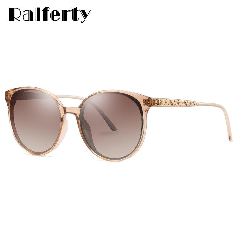 UV400 Ralferty Senhoras de Luxo Óculos De Sol Das Mulheres Polarizada Óculos  de Sol Mulheres Rodada a2a5de4197