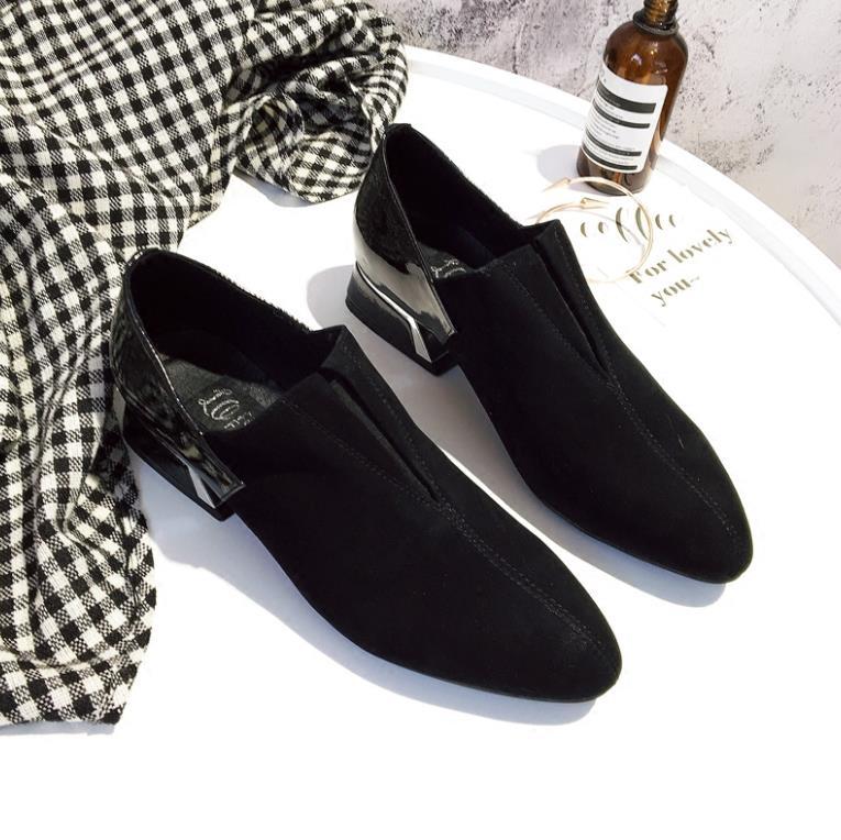 Version Noir Bouche Et Nouvelle Chaussures En La Coréen Automne Mode Femmes Cuir De Rallye Printemps Sharp Profonde pY7aqdw7