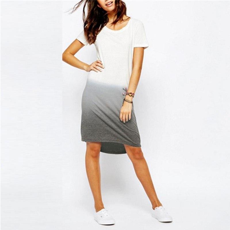 fashion summer t shirt dress stylish short sleeve o neck loose