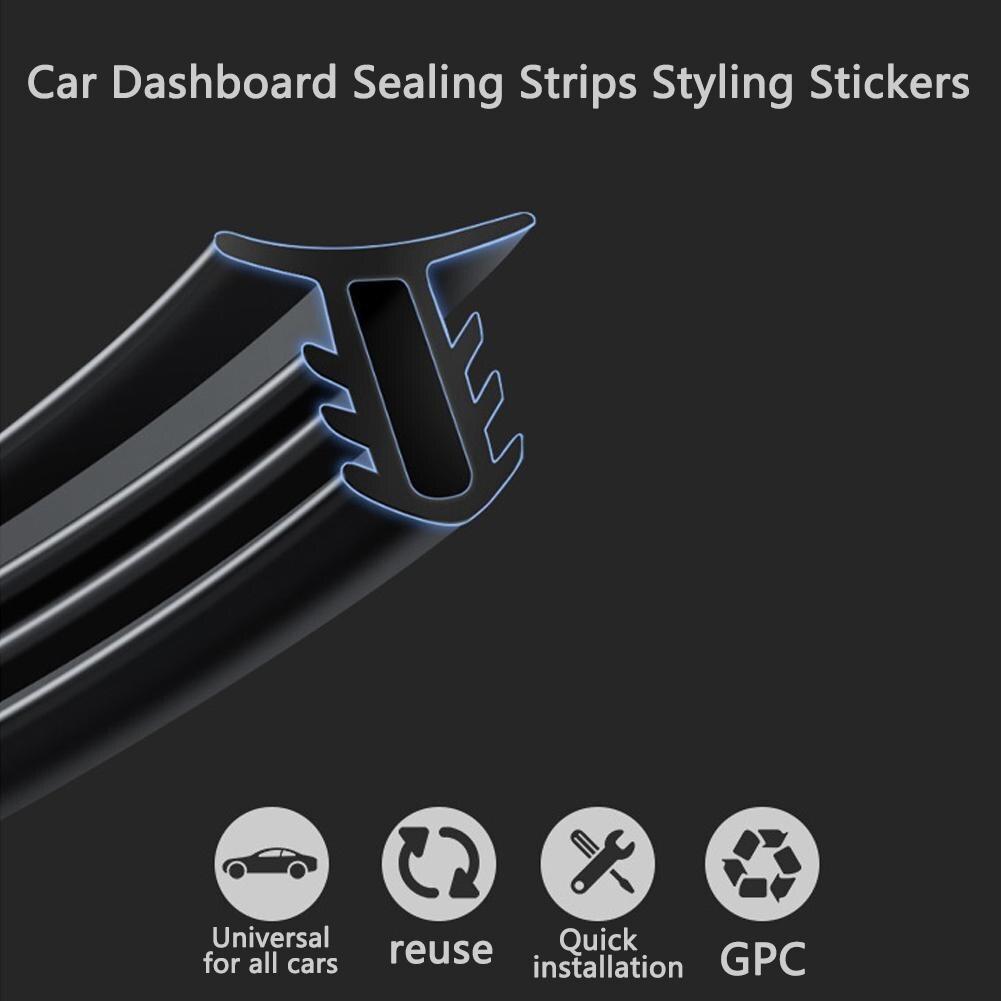 Adesivos de carro de borracha dashboard tiras de vedação para mazda ford toyota bmw audi acessórios interiores