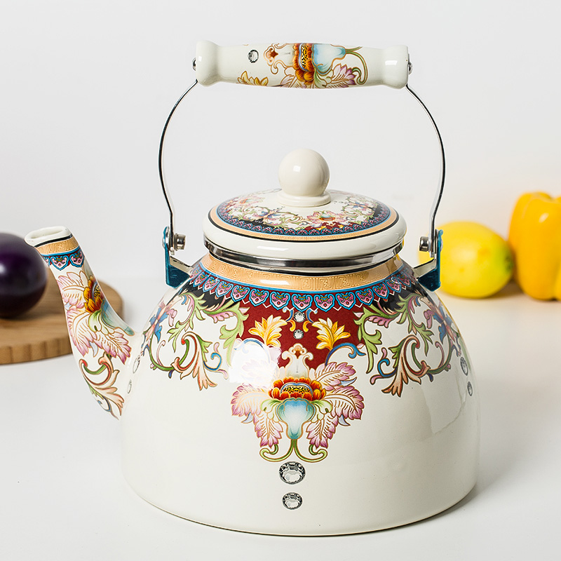 4L Large Capacity High Quality Special Porcelain Enamel Teapot Water Kettle Water Bottle Free Shipping