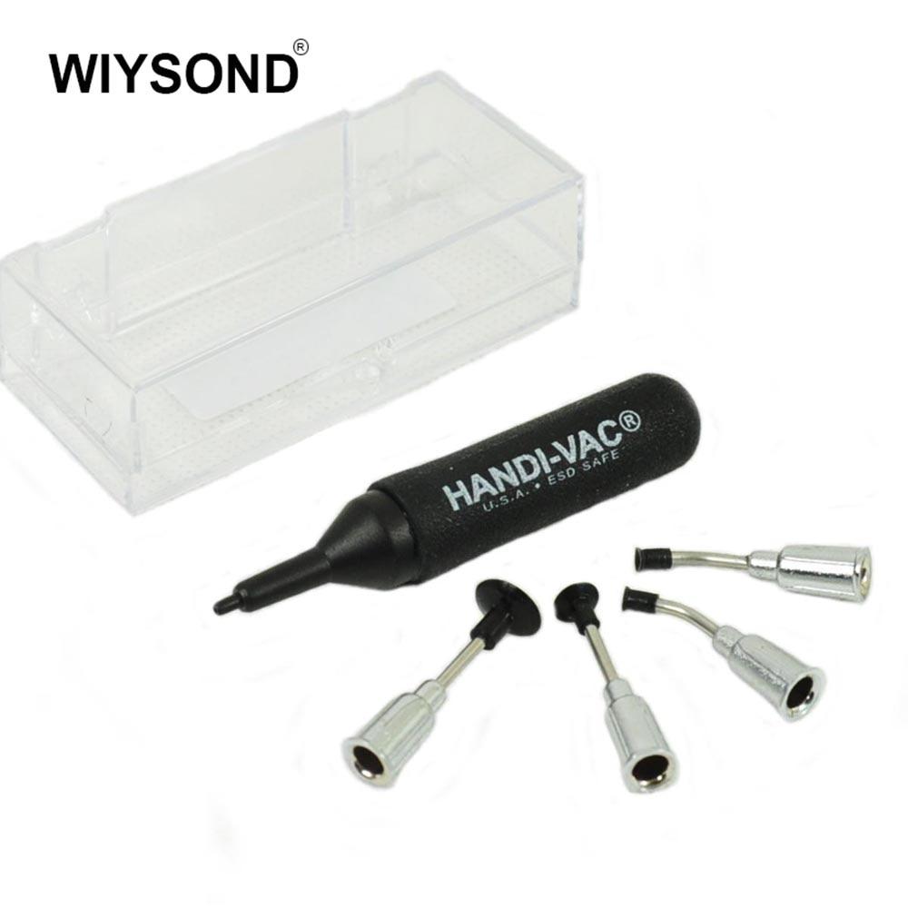 Mini SMT// SMD IC Pickup Vacuum Pump Pen Hand Tool with 4 headers Set