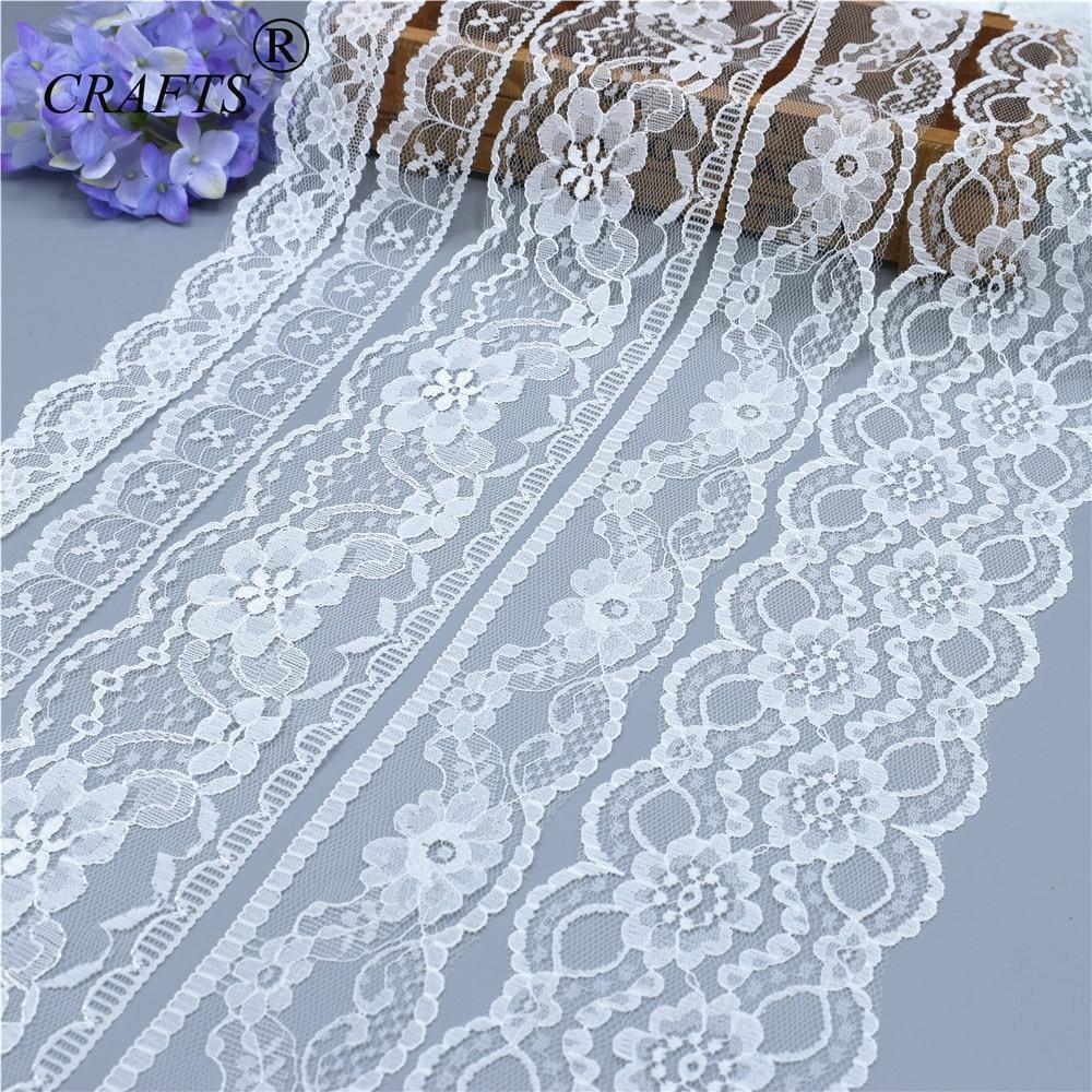 חדש לגמרי 10 מטרים יפה לבן תחרה, מלאכות DIY/חתונה/בגדים/תחרה סרט גלישת מתנה אחרים 38 מיני אביזרים