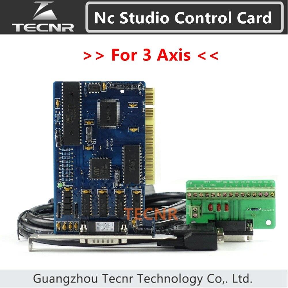 Contrôleur ncstudio système de carte de contrôle de studio nc 3 axes pour routeur de CNC 5.4.49/5.5.55/5.5.60 version anglaise