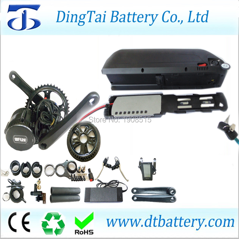 down tube hailong 36V 13.6Ah Li-Ion e bike battery pack and 8fun/bafang 36V 350w bbs01 mid drive motor kit high quality e bike triangle battery 36v 20ah li ion battery pack for 36v 1000w 500w 8fun bafang moto kit with charger bag bms