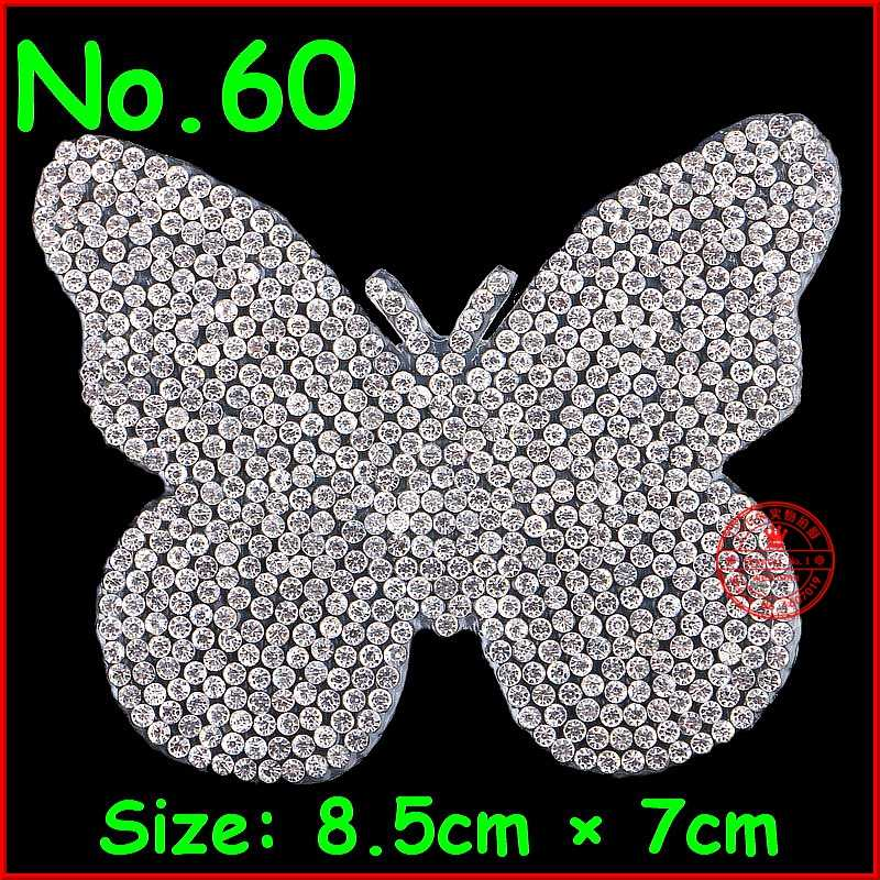 1 pcs Lot Shine Patches Butterfly Hotfix Rhinestone Motify Crystal Patch  Applique For Children Women 4d4dfa354d95