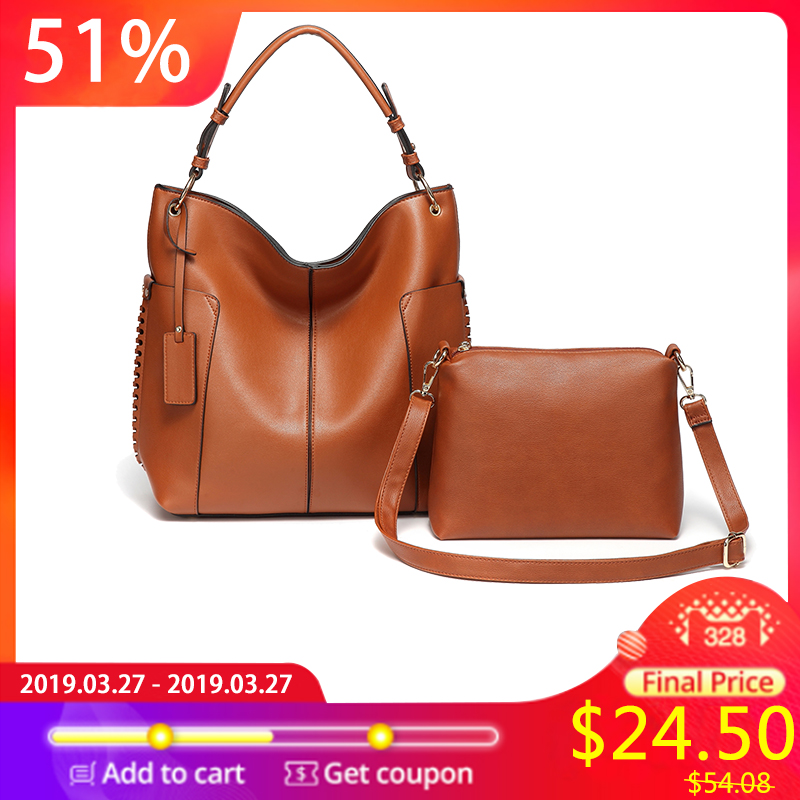 23257c753 VASCHY Two Pieces Set Women Handbag Hobo Bag Purse for women,Vaschy Faux  Leather Convertible