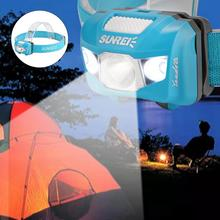 Zoomable Waterproof LED Headlamp Headband Light with SOS Function For Outdoors Camping Fishing head lamp waterproof