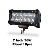 RACBOX 36W 7 Inch OffRoad LED Work Light Bar Flood Spot Beam For Truck 4x4 4WD