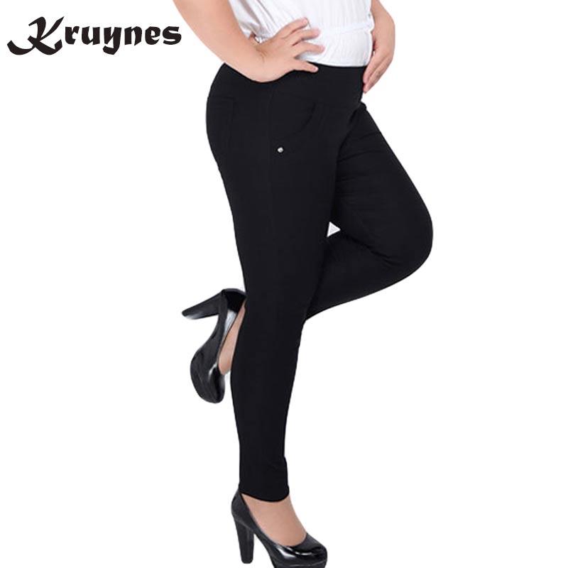 Extra Große 6XL Frauen hosen lange Hosen Hohe Taille Stretch Bleistift hosen Dünne Hosen für frauen pantalon sarouel femme