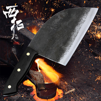 XITUO Full Tang Handmade Forged Chef Knife Hard Clad Steel Blade Butcher Slaughter Cleaver Kitchen chopper knife for meat bones