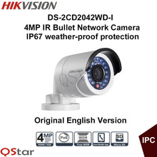 Hikvision Original English Version Surveillance Camera DS-2CD2042WD-I 4MP Mini IP Camera POE Security Camera CCTV Camera IP67(China)