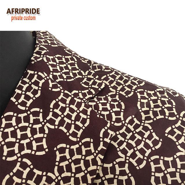 Online Shop Afripride spring fashion suit jacket men s coat african  traditional clothes print wax Bazin Riche plus size A731402  7aa567d93b87