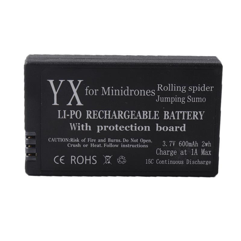 LeadingStar 3.7V 600mAh Li-po Battery W/Circuit Protective IC for Parrot Mini Drones Jumping Sumo Mini Drone Rolling Spider zk30 parrot minidrones series rolling spider mambo swing quadcopter drone parts fast charger jumping race sumo car battery charger