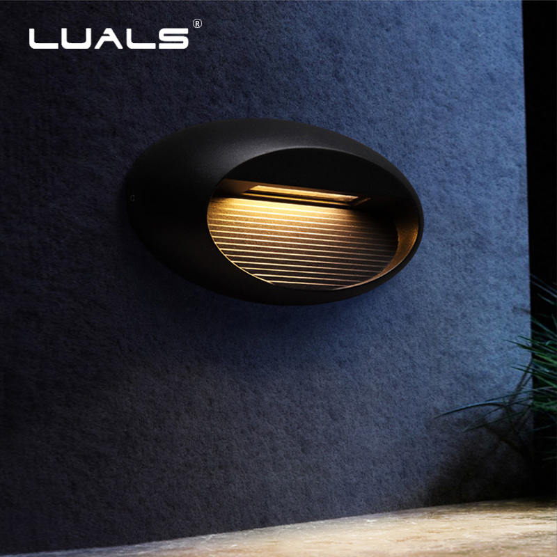 Outdoor Wall Lamp Garden LED Lighting Cast Aluminum Stair Light Footlights Luxury Home Wall Lamps Creativity Art Porch Lights modern wall lamp outdoor waterproof led wall light garden wall lamps cast aluminum porch lights luxury home art deco lighting