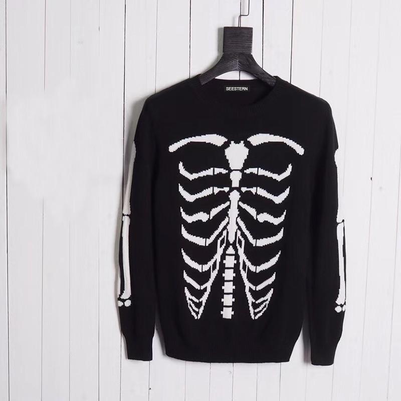 Seestern Brand clothing Skull frame font b men b font font b sweaters b font fashion