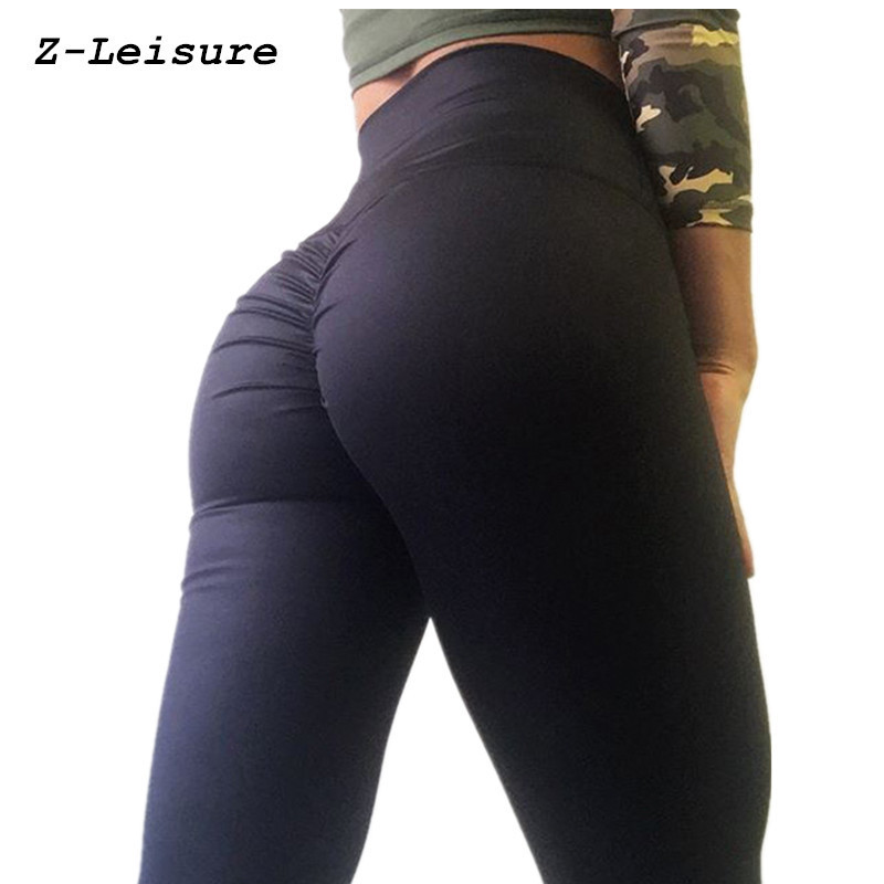 cd679ebafc87 Women s Sports Yoga Pants New Sexy Training Leggings Elastic Gym Fitness  Workout Running Tights Compression Trousers YG1801