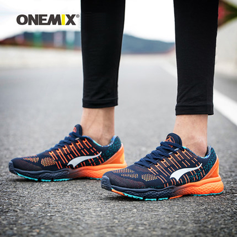 New onemix Breathable Mesh Running Shoes for Men Women 2016 Knit light Lady Trainers Walking Outdoor Sport Comfortable sneakers