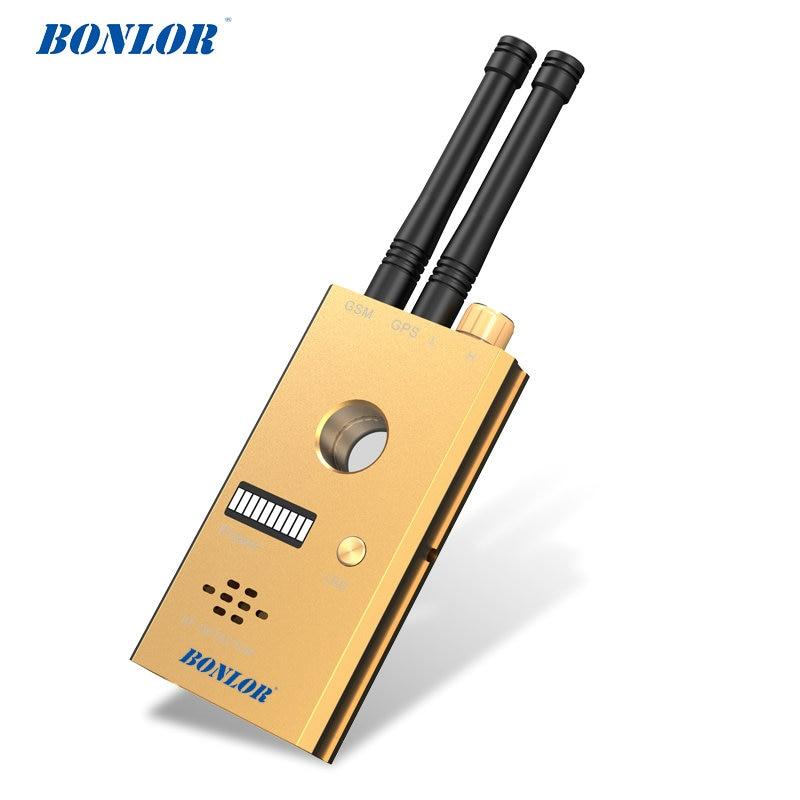 (1 conjunto) Detector de Sinal De Transmissão De alta Sensibilidade Sem Fio com GSM GPS Antena Dupla com Alarme Por Voz IR Câmera de Varredura Piscando