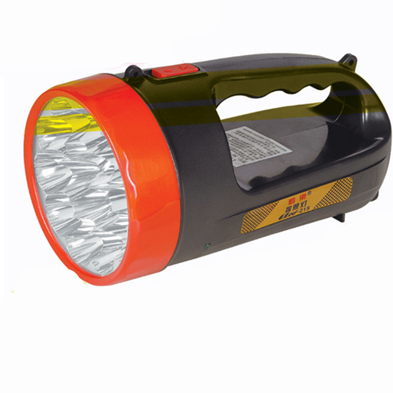 Portable rechargeable searchlight 15 LED handheld Flashlight Torch Lamp with Euro plug for Hunting Camping outdoor lighting super bright portable marine searchlight 30w led flashlight rechargeable police torch fishing lamp camping led hunting spotlight