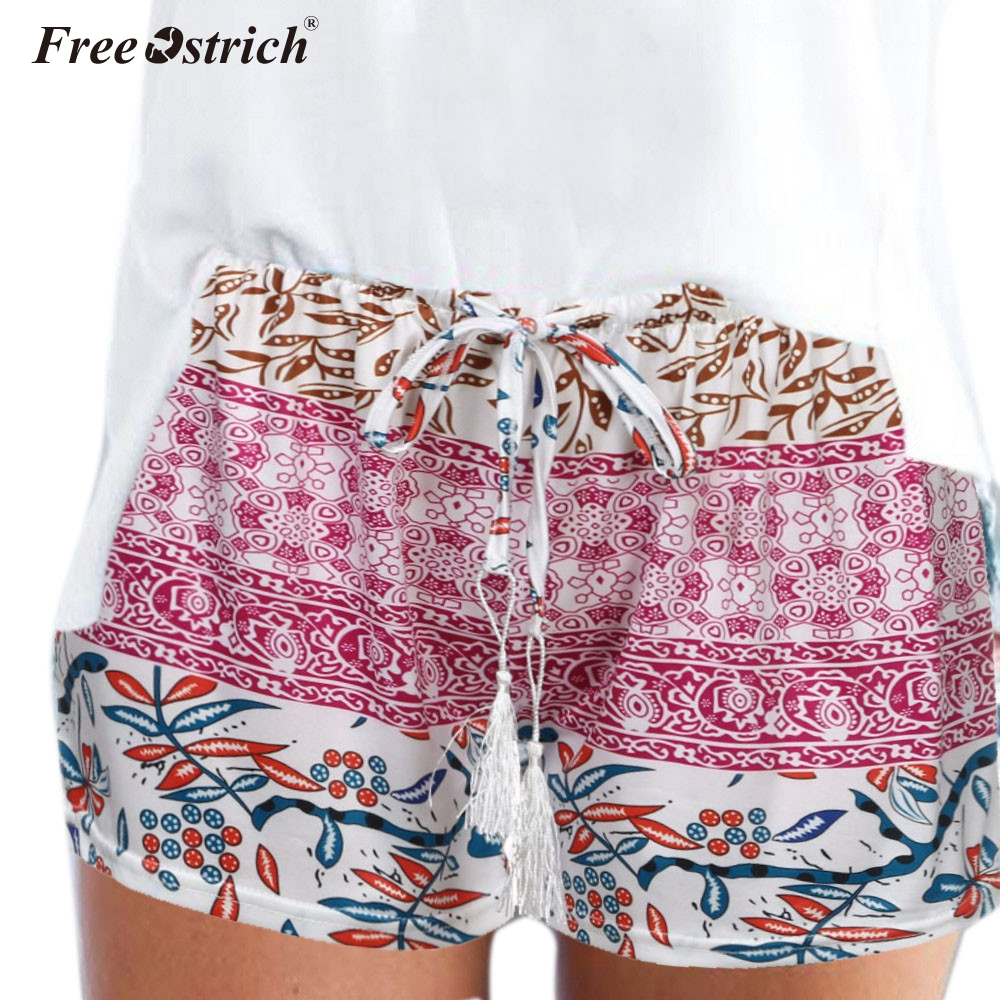 Free Ostrich Women Sexy Hot shorts Summer Casual Shorts High Waist Hot Shorts Printed Sexy Feminino shorts Exercise Trousers N30