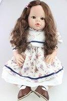 NPK 28 дюймов 70 см Силиконовые всего тела Reborn куклы реалистичные для новорожденных девочек кукла Рождественский подарок на Новый год