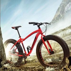 Image 5 - Wolfs fang bicicleta de montaña para hombre, bici de montaña de 26 pulgadas de ancho, 8 velocidades de neumático ancho, para nieve, bmx, carretera, envío gratis
