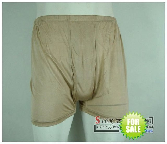 free shipping 100% silk knitted sexy men/s boxers/boyshort solid color