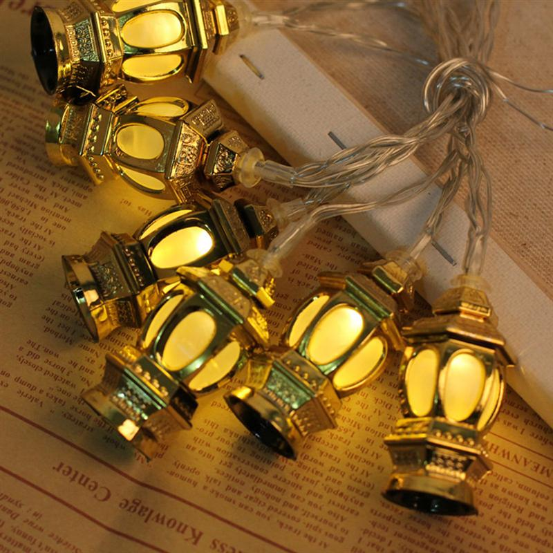 LED Muslim Ramadan Lanterns String Lights Eid Light Decoration 