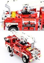 2016 NEW Decool 1 10 3323 DIY Technic Exploiture Fire Engine Truck Car Blocks Building Blocks