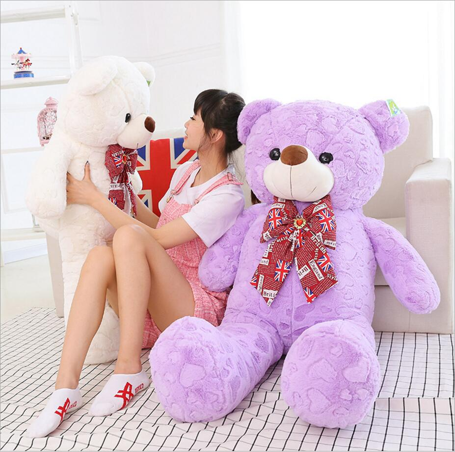 Lovely 120CM Giant Size Bear Plush Toys Stuffed Teddy Bear Cheap Pirce Gifts Stuffed Animals for Kids Girlfriends Christmas hot sale 8pcs lot mixed color 15cm lovely plush teddy bear small plush bear for children gift promotion gifts