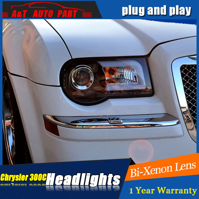 Auto part Style LED Head Lamp for Chrysler 300C led headlights 2005-2012 for 300C drl H7 hid Bi-Xenon Lens angel eye low beam auto part style led head lamp for porsche 997 series led headlights for 997 drl h7 hid bi xenon lens angel eye low beam