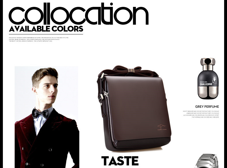 New Arrived luxury Brand men's messenger bag Vintage leather shoulder bag Handsome crossbody bag handbags Free Shipping 24