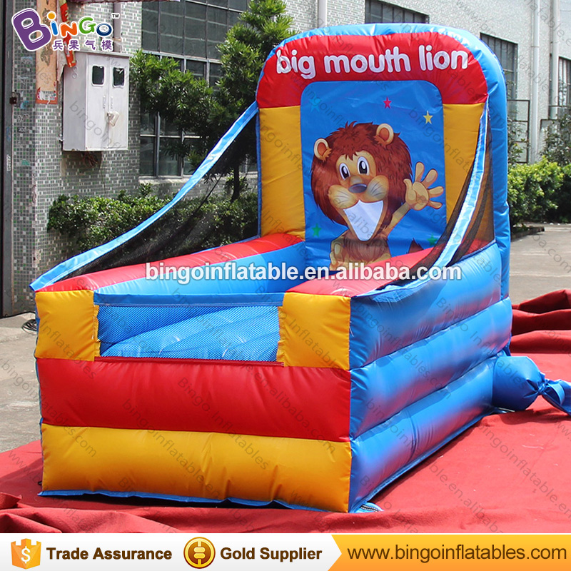 Funny game inflatable shrowing game lion mouth for target with FREE shipping feeFunny game inflatable shrowing game lion mouth for target with FREE shipping fee