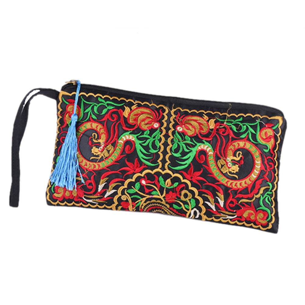 Hot S Women Retro Boho Ethnic Embroidered Wristlet Clutch Bag Handmade Purse Wallet Storage Bags In From Home Garden On Aliexpress
