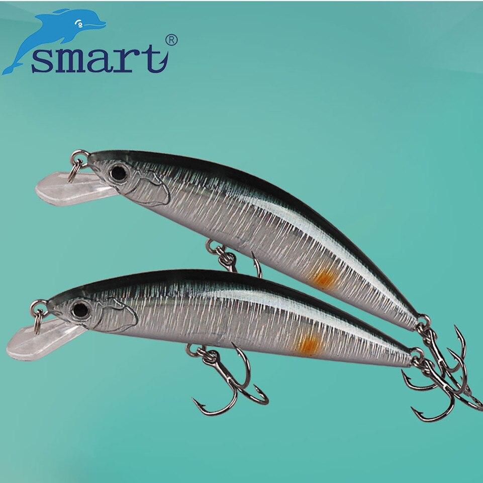 SMART Minnow Köder 65mm5g Sinking Fischköder VMC Haken Isca Künstliche Para Pesca Leurre Souple Peche Fischerei Wobbler
