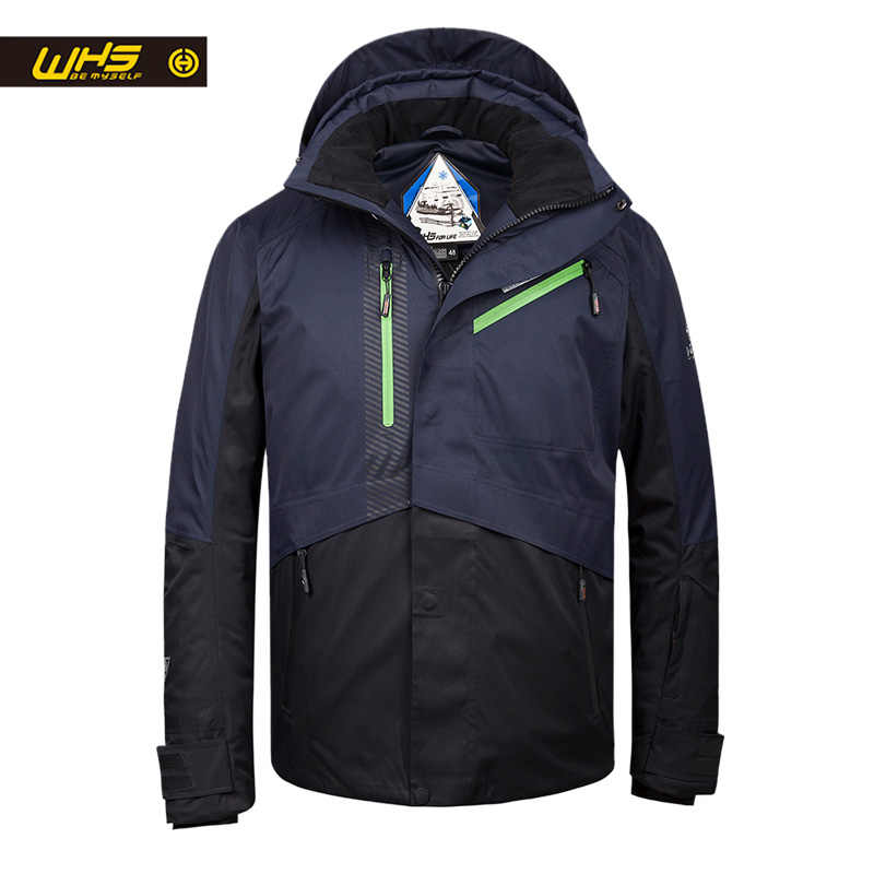 WHS 2019 新メンズ屋外スキージャケット防風男性暖かいコート男性雪ジャケットティーンエイジャースリム服男性ウォームジャケット