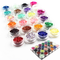 Excellent Product Salon Nails Store Pro 24colors Nail Art Shell Decoration For Beauty Nail Desgin Decorate