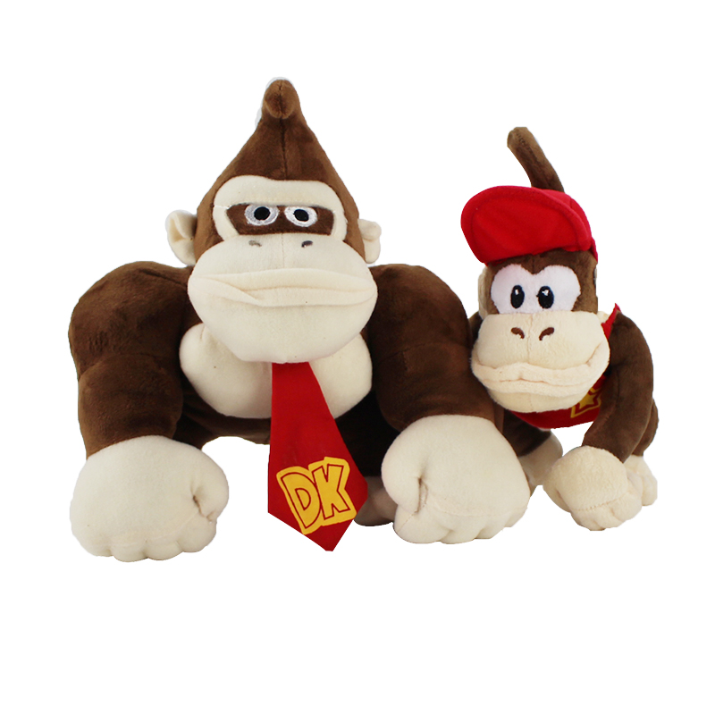 14-19cm Two Styles Super Mario Bros Monkey Donkey Kong And Diddy Kong Soft Stuffed Plush Toys Kids' Gifts Free Shipping