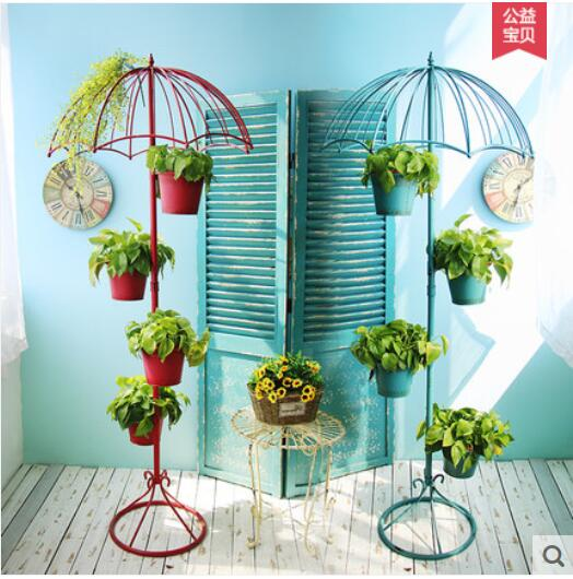 American Iron Multilayer Umbrella Flower Stand Home Living