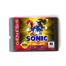Sonic MegaMix 16 bit MD Thẻ Nhớ cho Máy Sega Mega Drive 2 cho SEGA GENESIS Megadrive