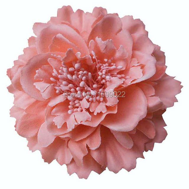Beach Large Peony Hair Flower Brooch Pin Blush Pink Hawaiian Party