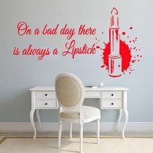 Luxuriant lipstick beauty salon Self Adhesive Vinyl Waterproof Wall Art Decal Living Room Children Mural