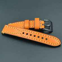 High grade leather strap 20mm 22MM 24MM 26mm genuine leather Watchband For Omega Seiko watch strap man watch straps for Panerai  все цены