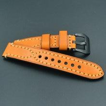 Ремешок из натуральной кожи для часов omega seiko кожаный браслет