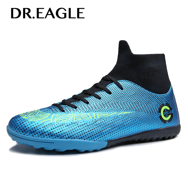 c8271b08b EAGLE Turf Futsal Boots Indoor Centipede Football Shoes Size 36-45 Kids Man  Soccer Shoes Boots Artificial Grass Cleats Boot