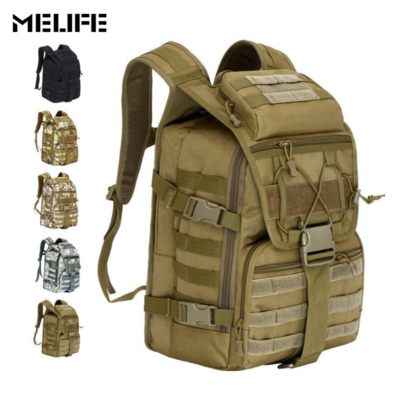 MELIFE 900D Outdoor Tactical Backpack Waterproof Army Shoulder Unisex Military hunting camping Climbing Molle Sport Bag For men new arrival 38l military tactical backpack 500d molle rucksacks outdoor sport camping trekking bag backpacks cl5 0070