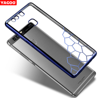 For Huawei P9 Case Cover Yagoo Fashion Water Cube Plating Protect Corner And Back Resistant Shock