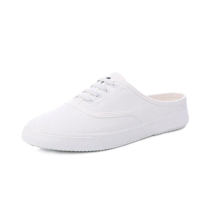Exterior Corea Femeninos Sandalias Mujer 2018 white Blancos Los Lona Comercio Estudiantes Transpirable Zapatos Mujeres Black Literatura De Y6IHY